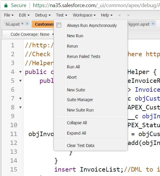 Write Apex Test Classes efficiently with Tesforce